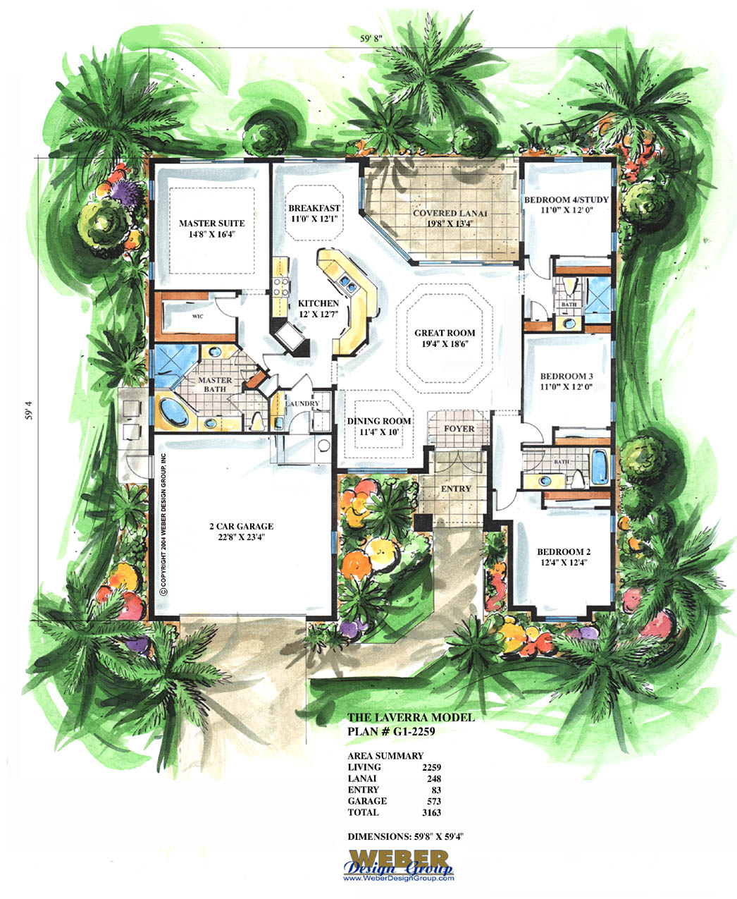 2 259 laverra by weber design group for Mediterranean style floor plans